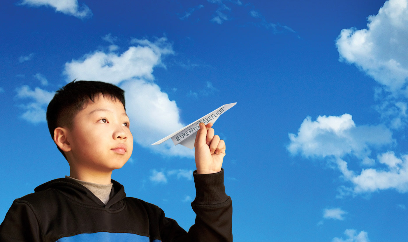 Campaign Banner: Help Our Children Soar. Join the Chilc Center of NY's #DreamsTakeFlight Campaign