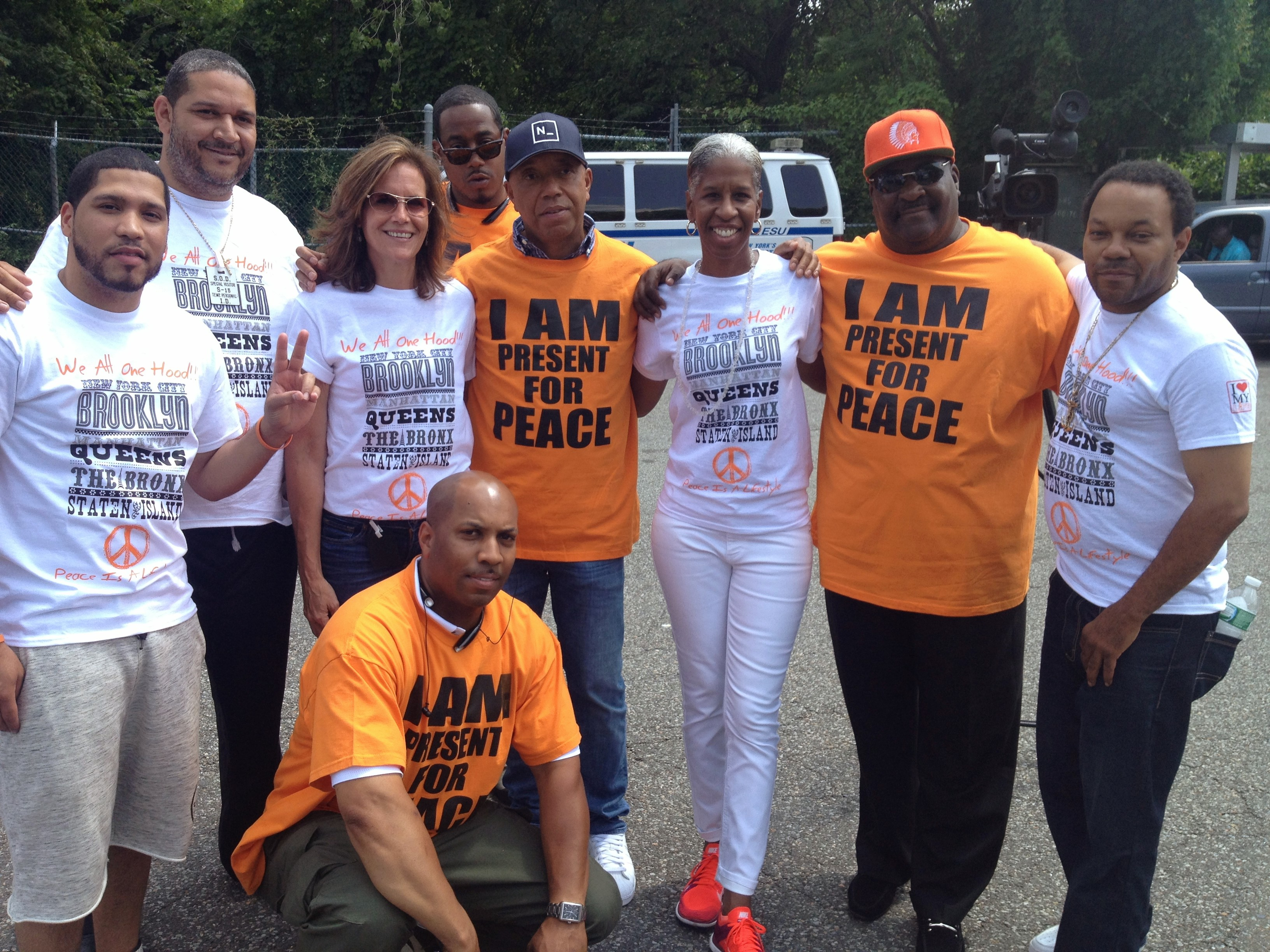 Joining Russell Simmons and LL Cool J in Campaign for Peace