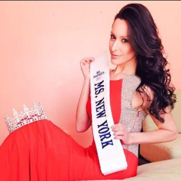 Ms. New York, Ana Treppiedi,competing in Ms. America pageant