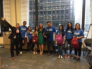 Employees of KPMG who participated in the backpack drive