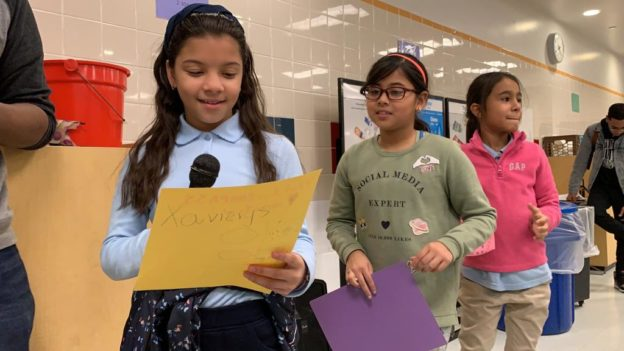 Students of COMPASS PS 273 present speeches
