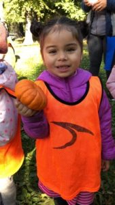pumpkin picking at EarlyLearn Corona