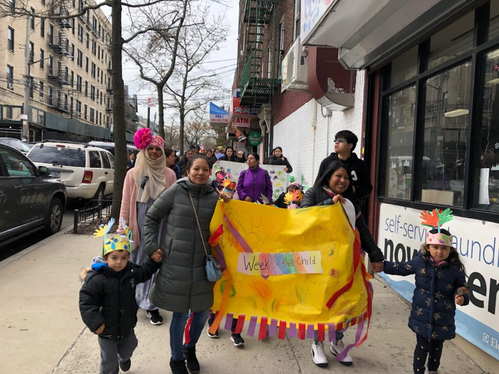 Head Start students in Woodside celebrate Week of the Young Child with a community parade