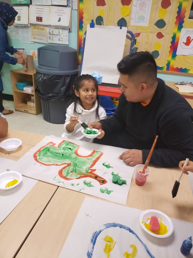 Corona Head Start student participates in Dads Take Your Children to School Day