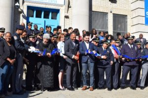 Ribbon cutting opening of NYPD Community Center in East New York