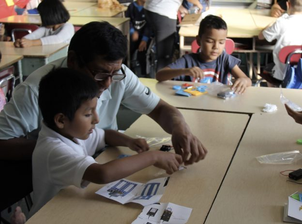 Working on a STEM project at P.S. 89 afterschool