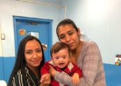 Alondra with her client family, through Early Head Start