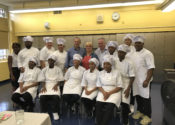 Emmy Award-winning chef Lidia Bastianich cooks with students from The Culinary Arts Program at August Martin High School