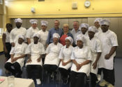 August Martin High School culinary students with Lidia Bastianich