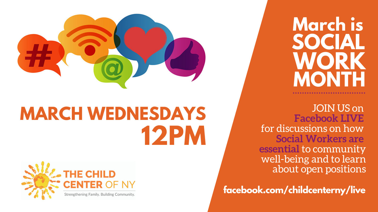 Join us every Wednesday in March at 12pm on Facebook LIVE.