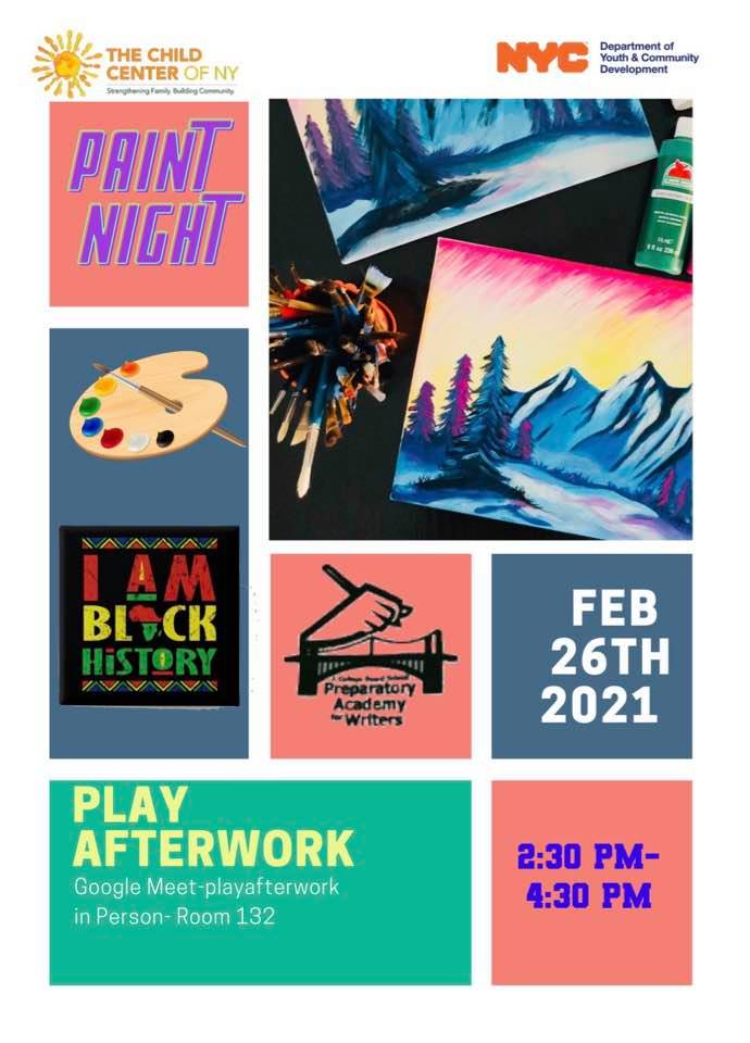 PAW Paint Night flyer