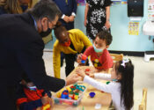 HHS Secretary Becerra, NYC DOE Chancellor Porter, and NYC First Lady McCray Visit our Corona Early Childhood Education Center