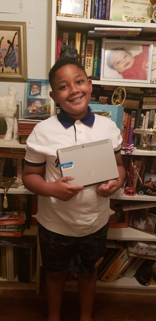 Logan, a participant at Parsons Beacon afterschool program in Flushing, Queens